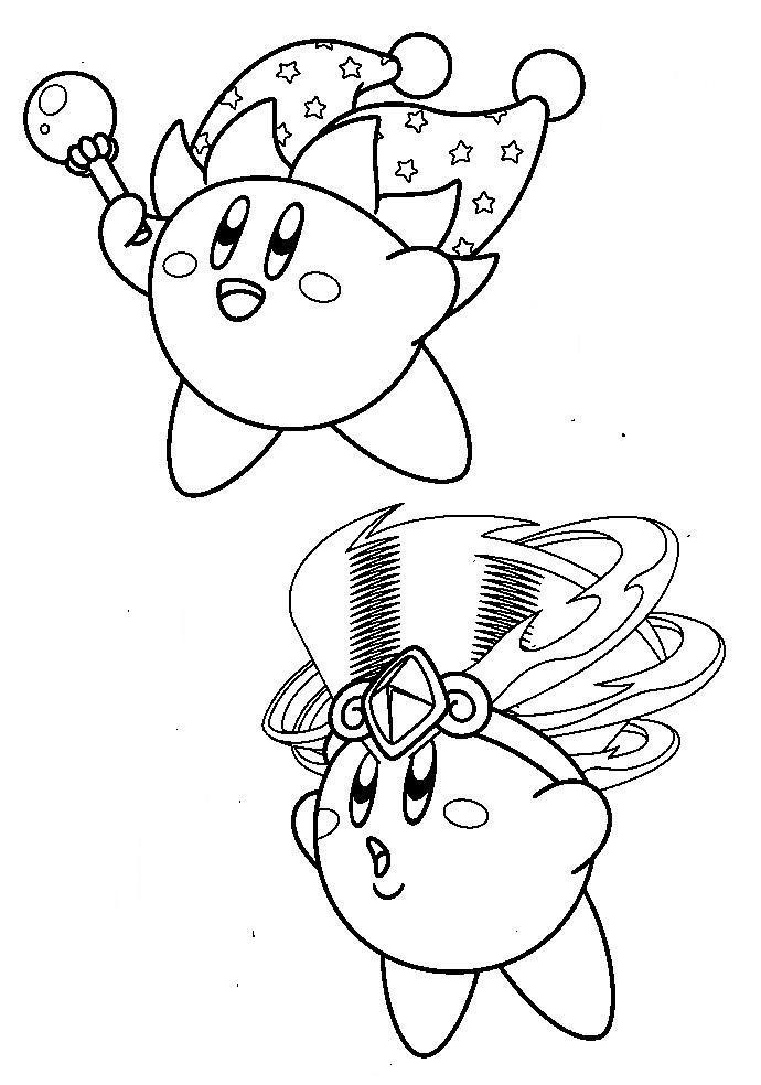 Mirror Tornado Kirby Coloring Pages