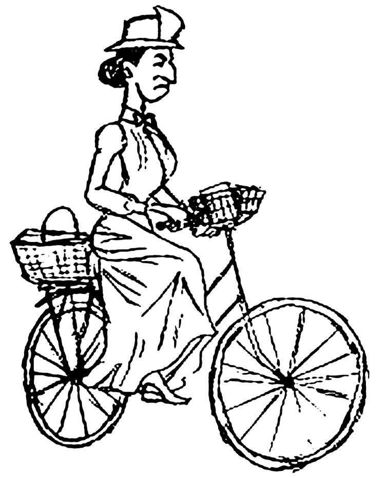 Miss Gulch On Bicycle Wizard Of Oz Coloring Page - Coloring
