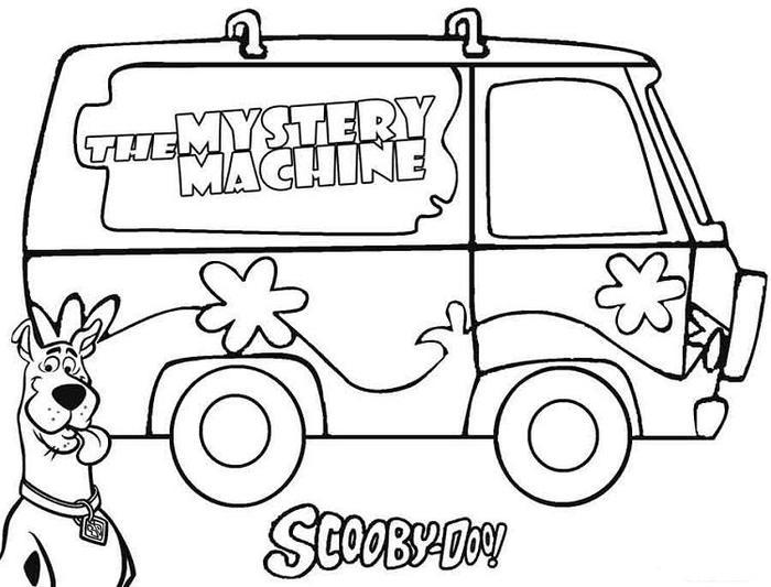Mistery Machie Van Coloring Pages