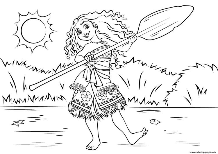 Moana Picture Coloring Sheets
