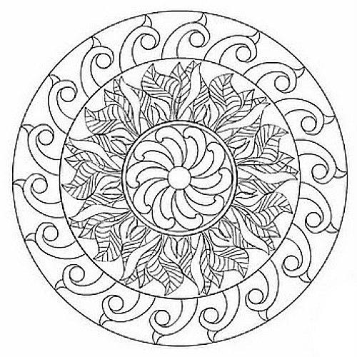 Modern Free Mandala Coloring Pages