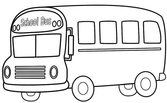 Modern School Bus Coloring Pages