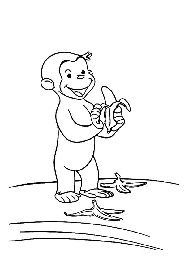 Monkey Coloring Pages Curious George