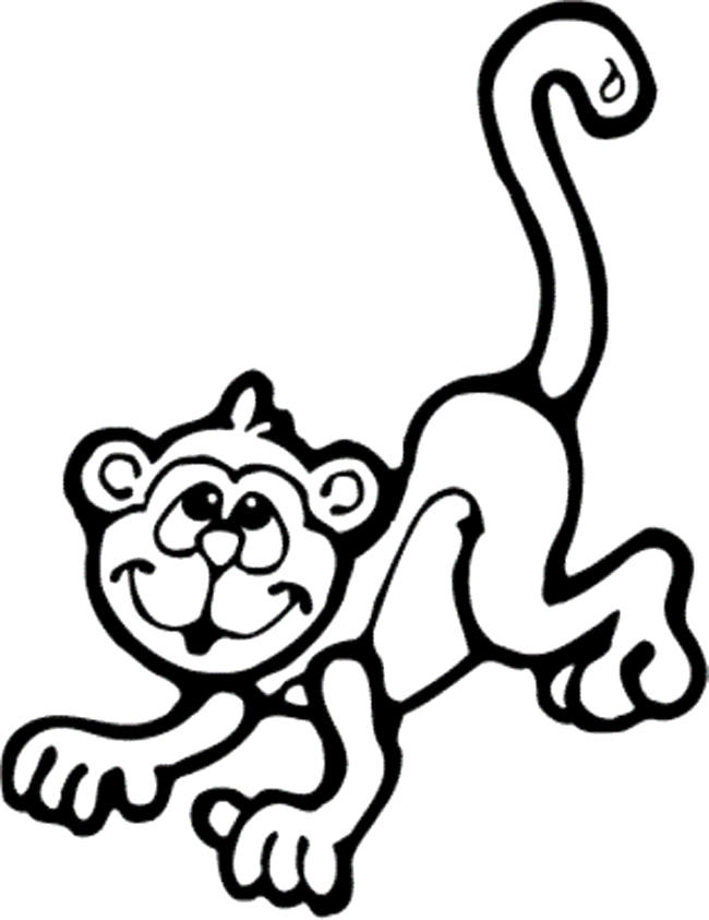 Monkey Coloring Pages For Preschool