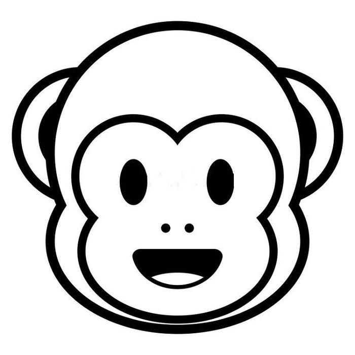 Monkey Emoji Coloring Pages