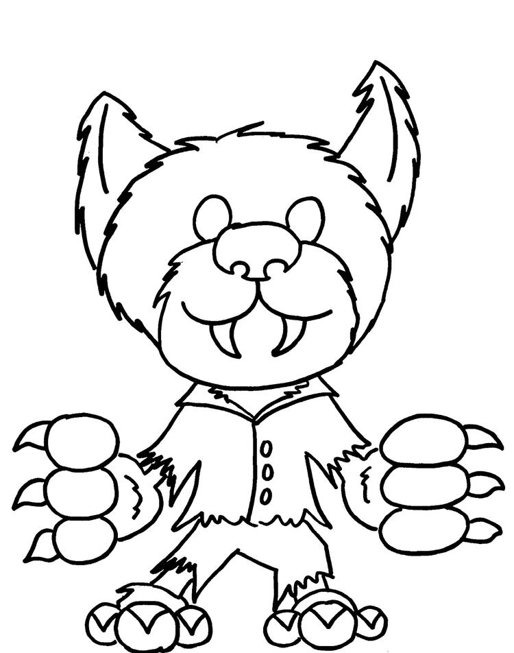 Monster Coloring Pages Werewolf