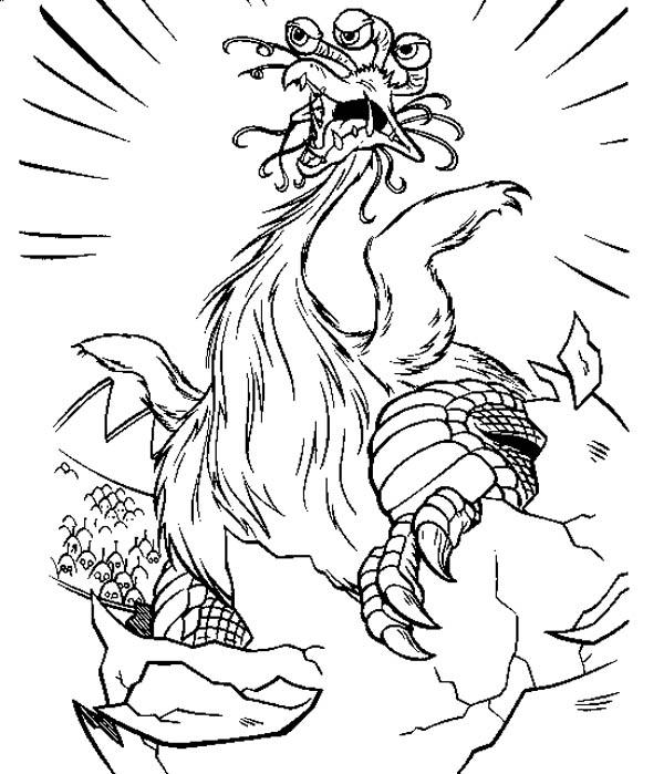 Monster Created By Jimmy Neutron Coloring Pages