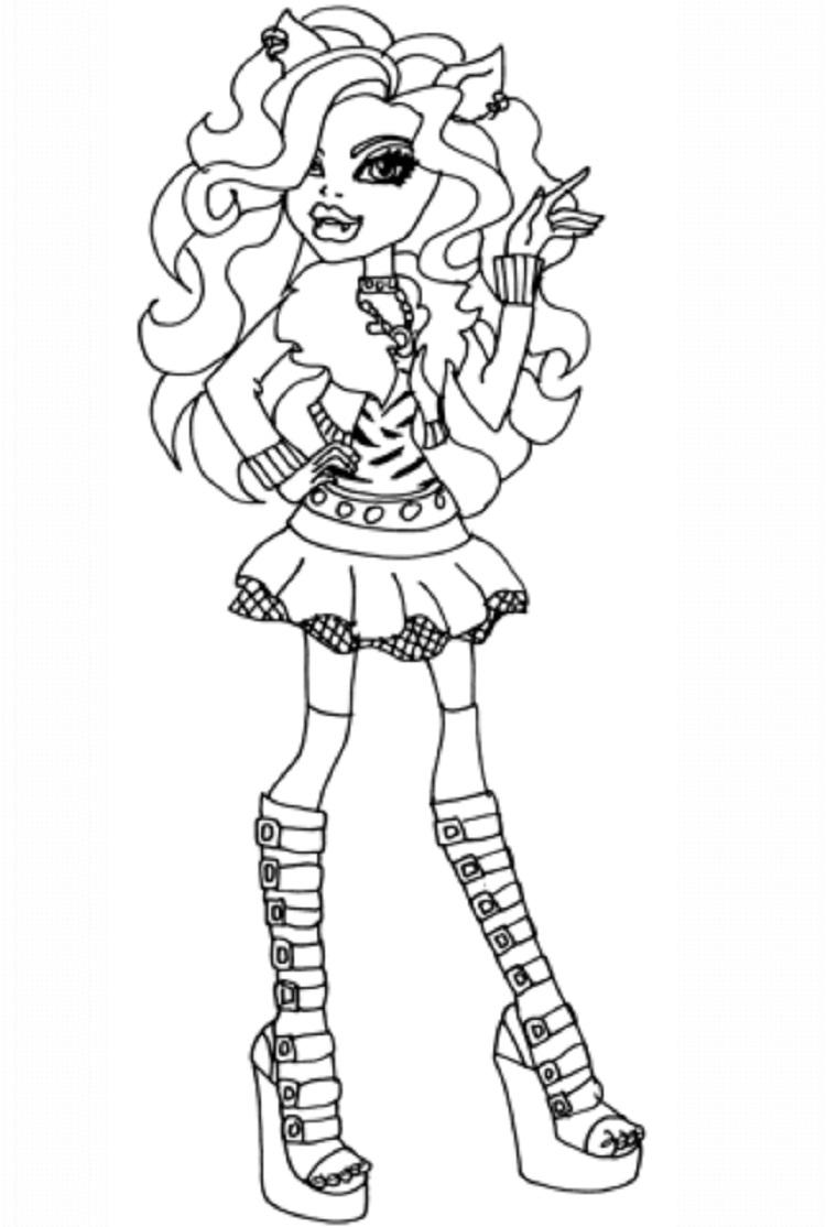 Monster High Coloring Pages Clawd Wolf