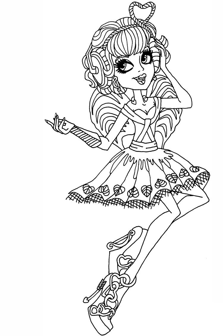 Monster High Coloring Pages Cupid