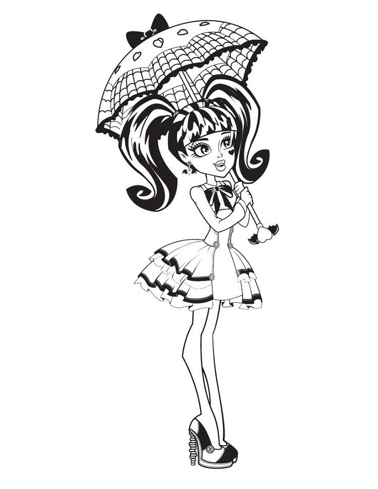 Monster High Coloring Pages Dress Up Who
