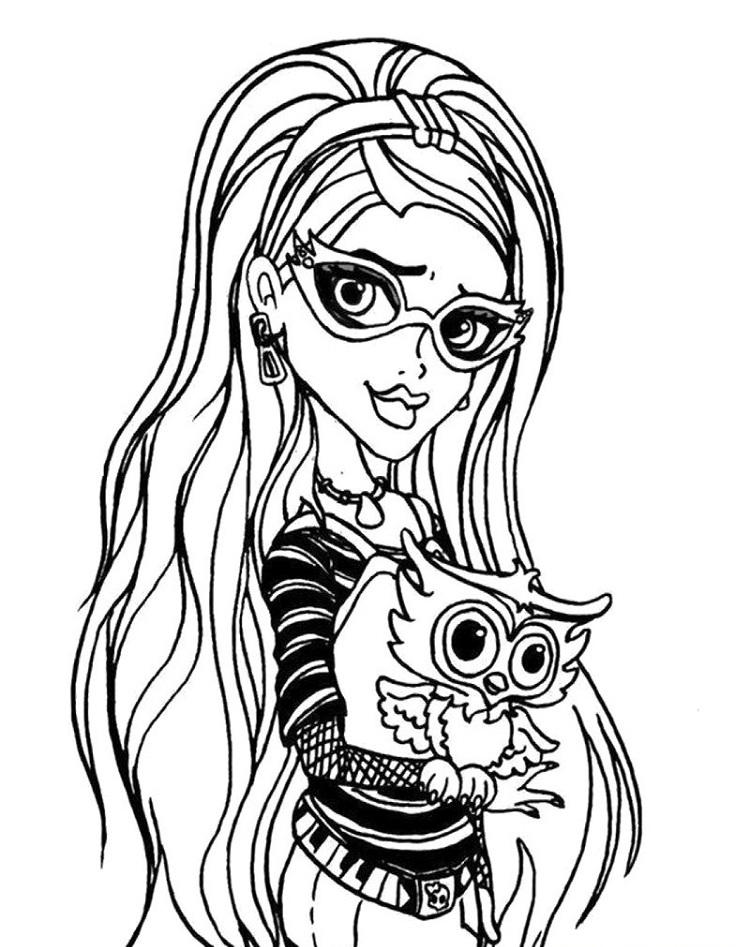 Monster High Coloring Pages Ghoulia Yelps