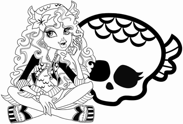 Monster High Coloring Pages Ghouls Rule