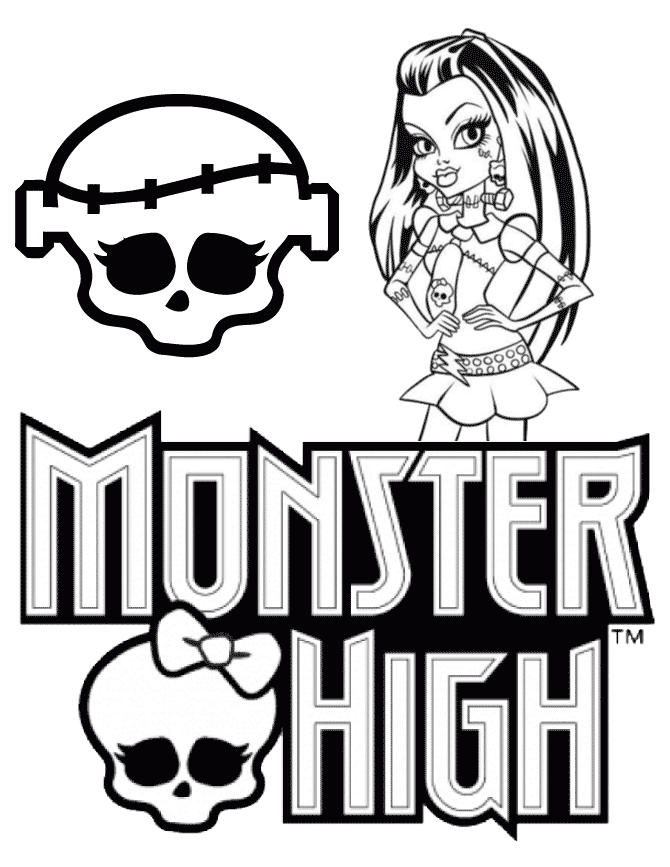 Monster High Coloring Pages Logo
