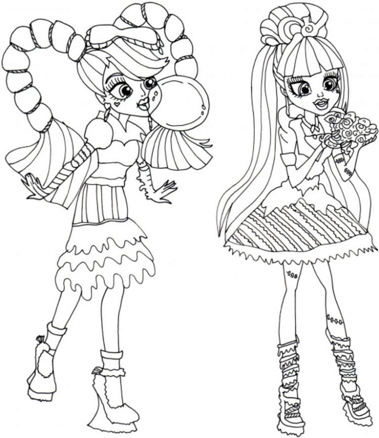 Monster High Coloring Pages Monster High