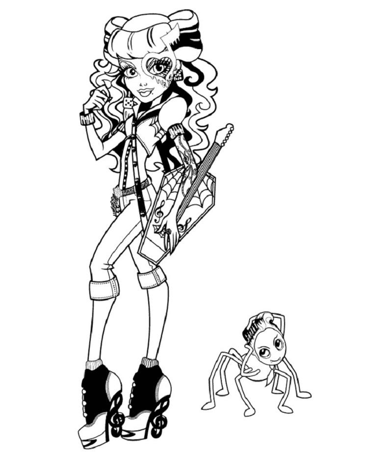 Monster High Coloring Pages Operetta