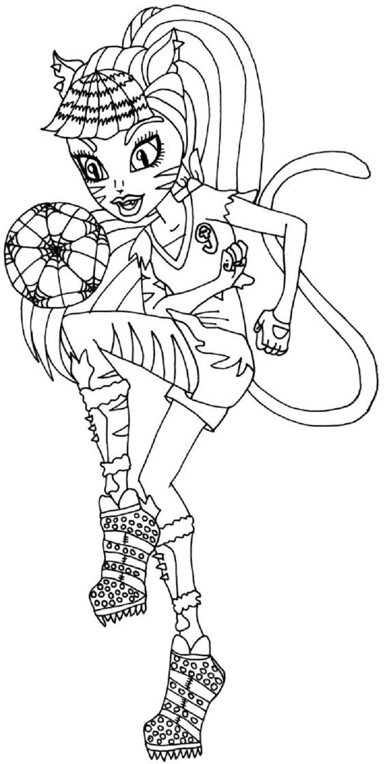 Monster High Coloring Pages Toralei Stripe