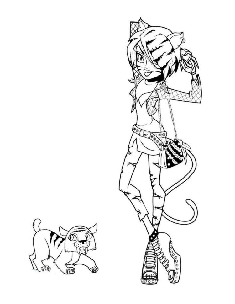 Monster High Coloring Pages Toralei