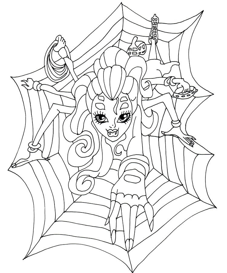 Monster High Coloring Pages Webarella