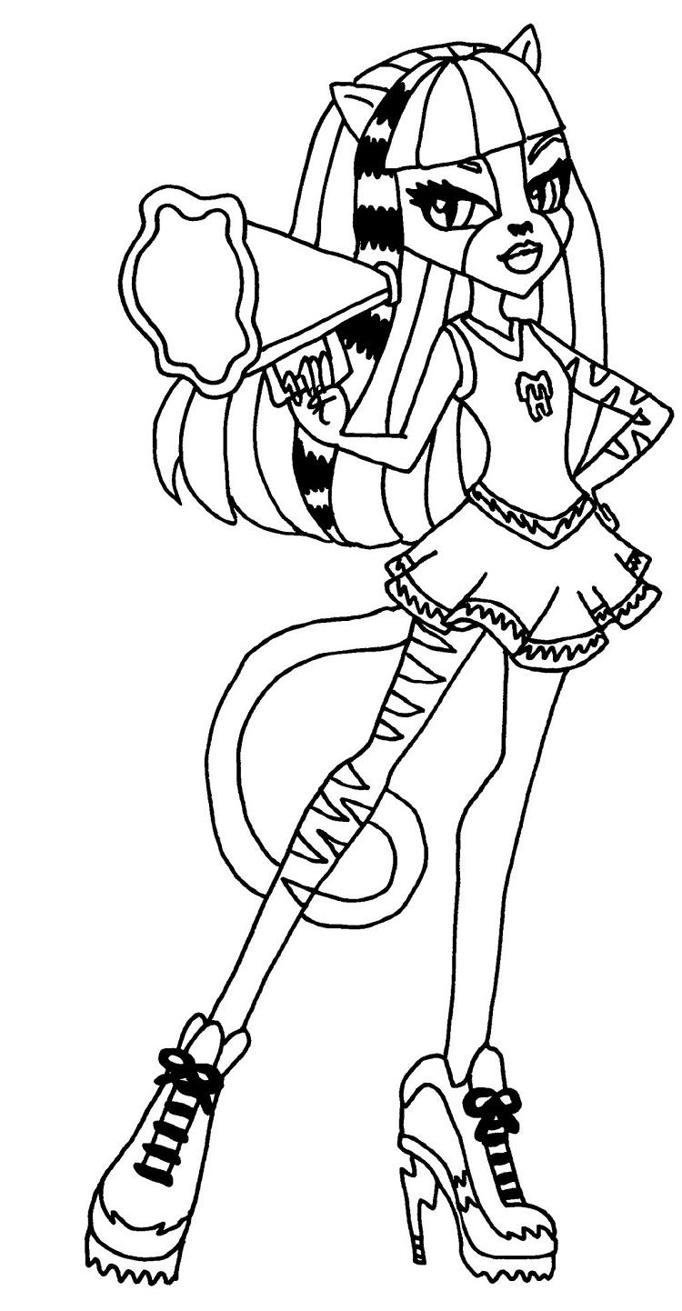 Monster High Honey Swamp Coloring Pages