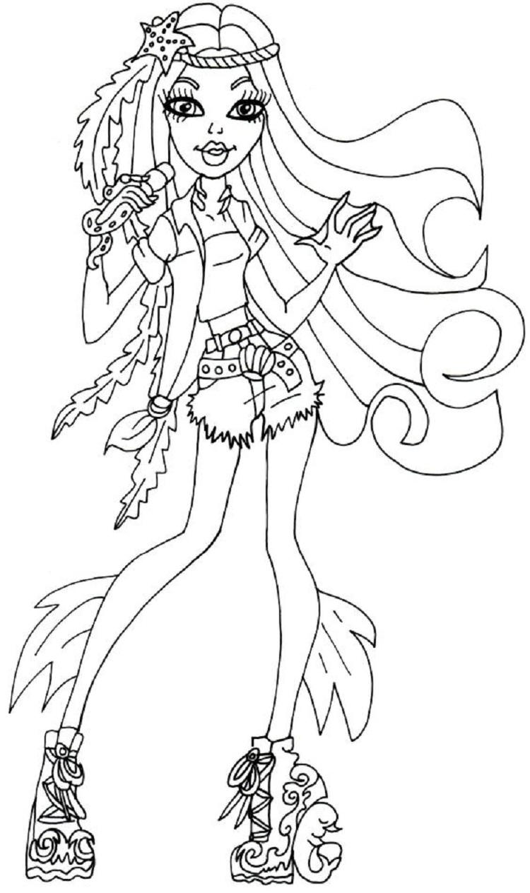 Monster High Madison Fear Coloring Pages