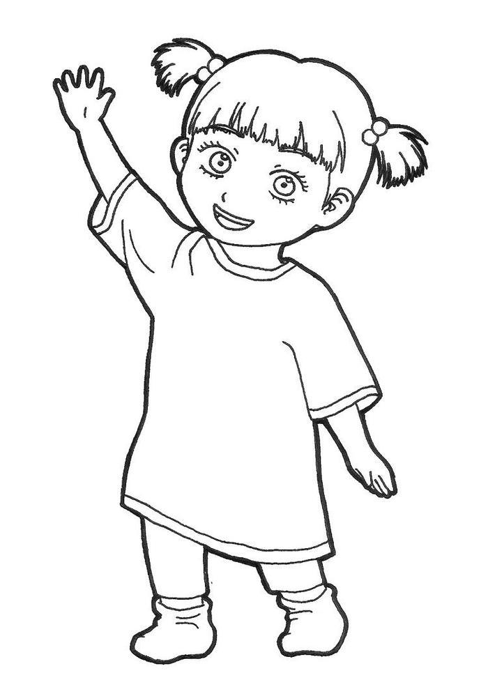 Monster Inc Boo Coloring Pages