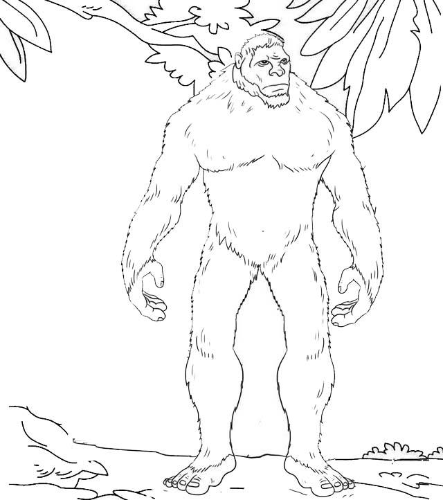 Monster Yeti Coloring Page