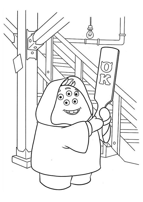 Monsters Inc Coloring Pages Squishy