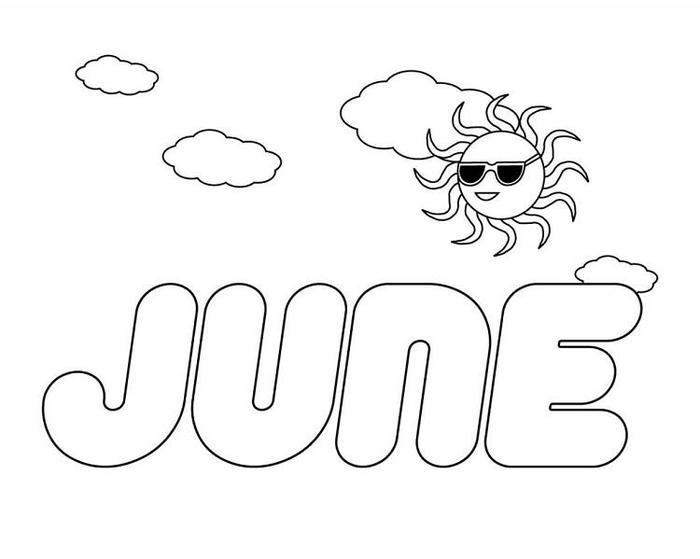 Month Of June Coloring Pages
