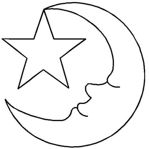 Moon Coloring Pages For Toddler