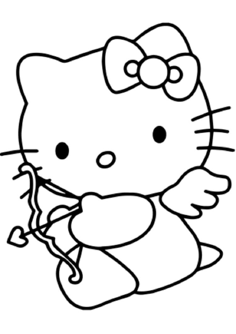 More Hello Kitty Coloring Pages