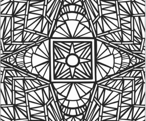 Mosaic coloring pages hard