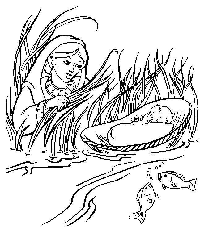 Moses Coloring Pages And His Mother