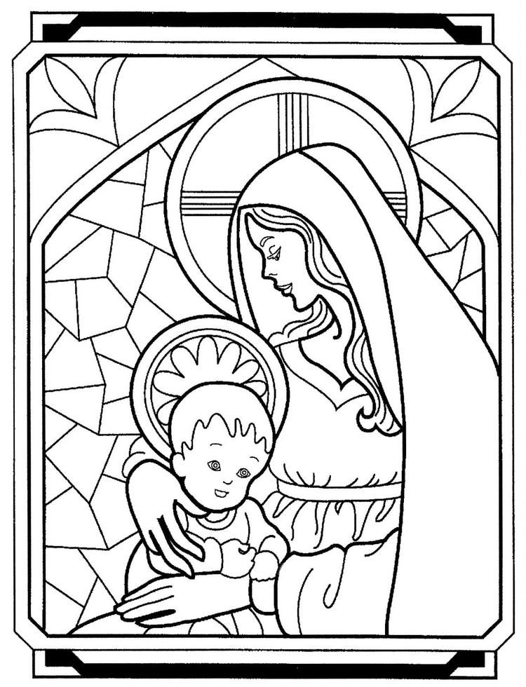 Mother Mary Coloring Books