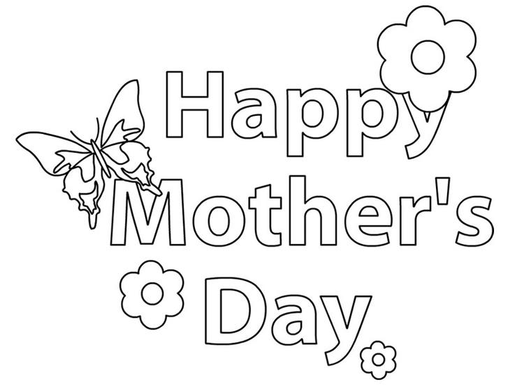 Mothers Day Coloring Pages Butterfly And Flowers