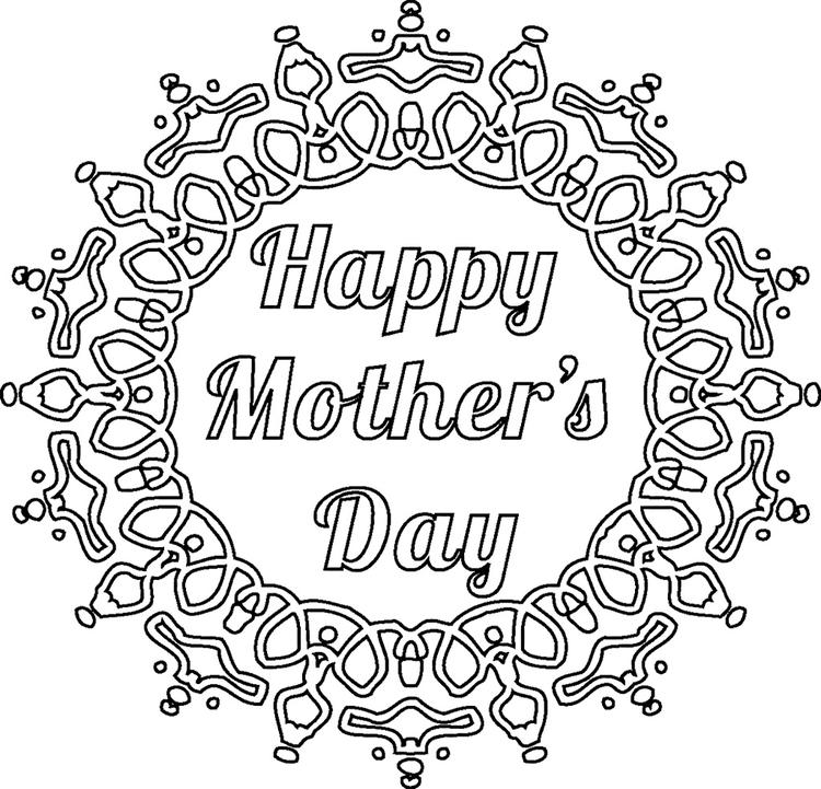 Mothers Day Coloring Pages Mandala