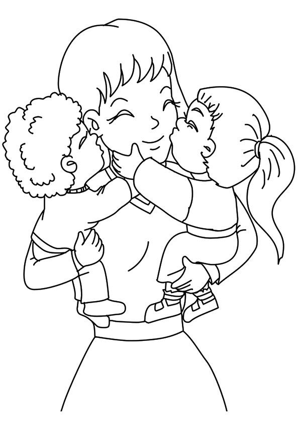Mothers Day Coloring Pages Mom And Kids