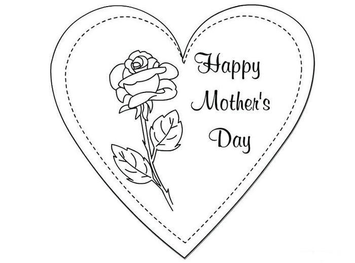 Mothers Day Hearts Coloring Pages