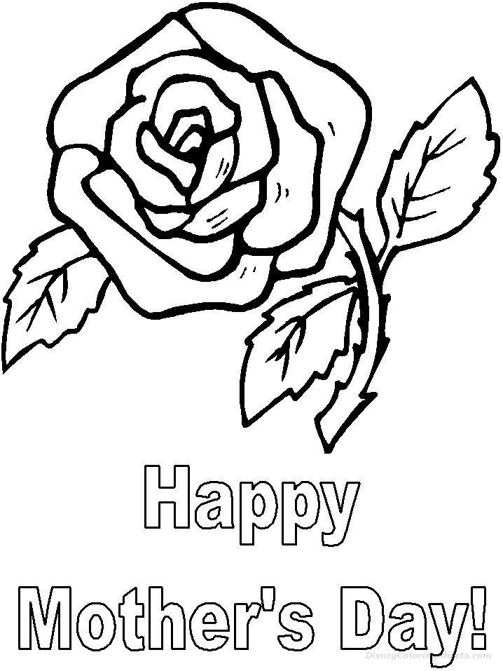 Mothers Day Roses Coloring Pages