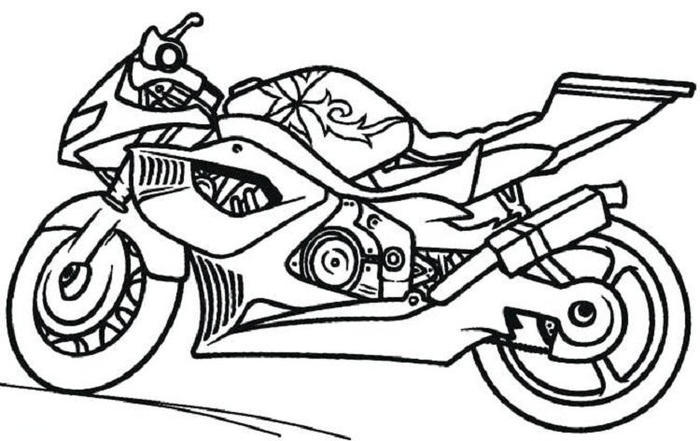 Motorcycle Bike Coloring Pages