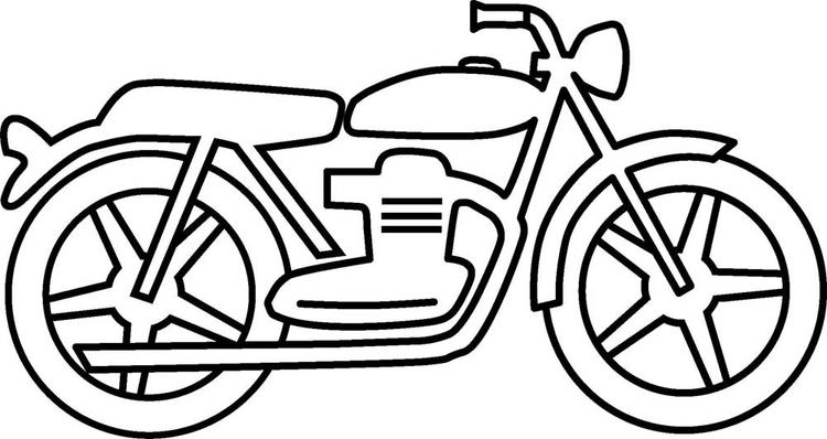 Motorcycle Coloring Pages For Toddler