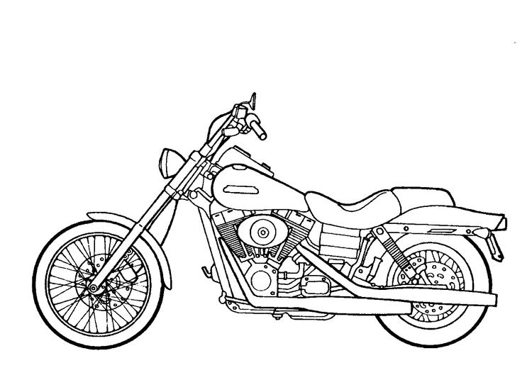Motorcycle Coloring Pages Harley Davidson Dyna