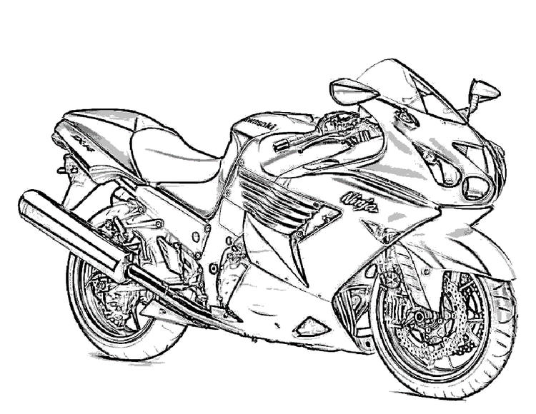 Motorcycle Coloring Pages Ninja