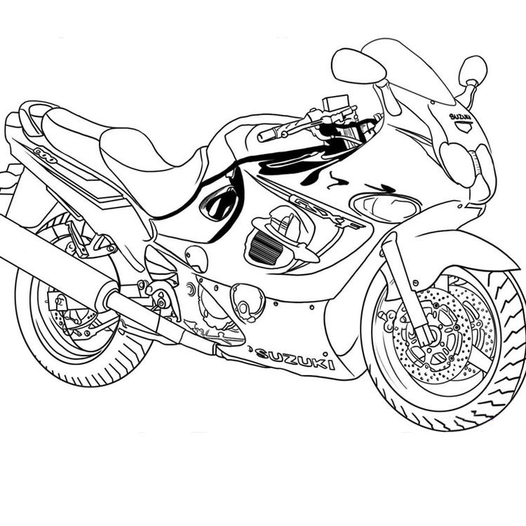 Motorcycle Coloring Pages Suzuki