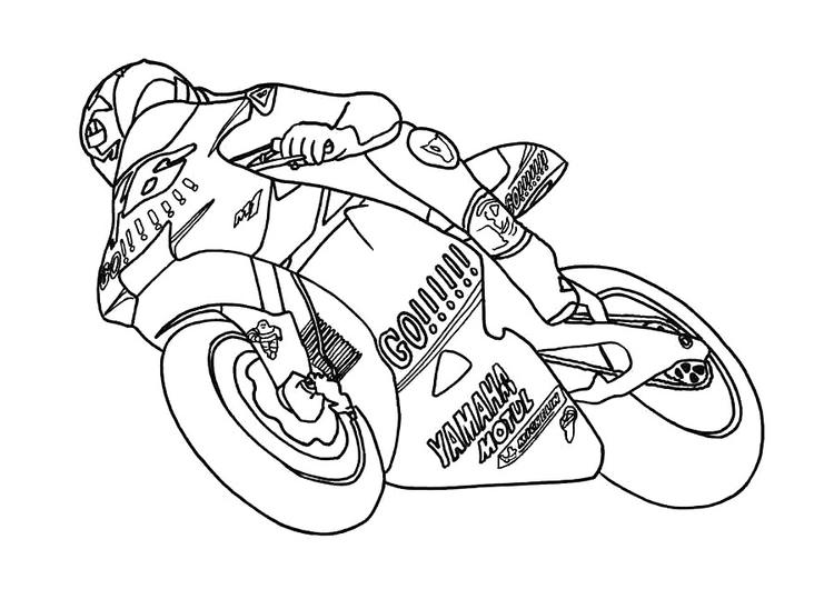 Motorcycle Coloring Pages Valentino Rossi