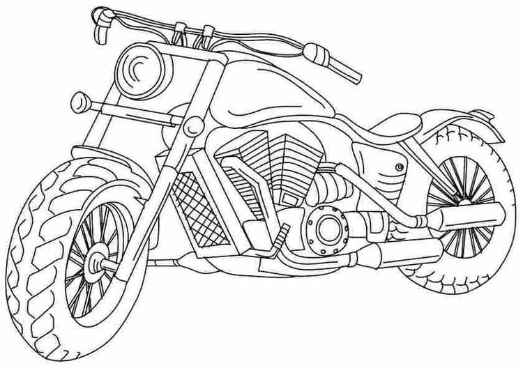 Motorcycle Colouring Page Printable
