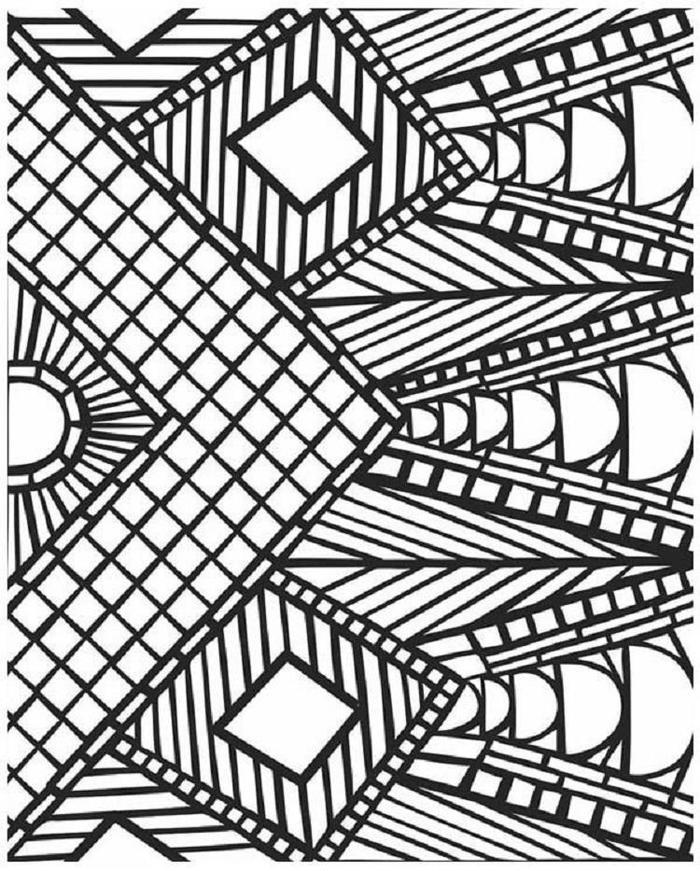 Mozaic Geometric Coloring Pages