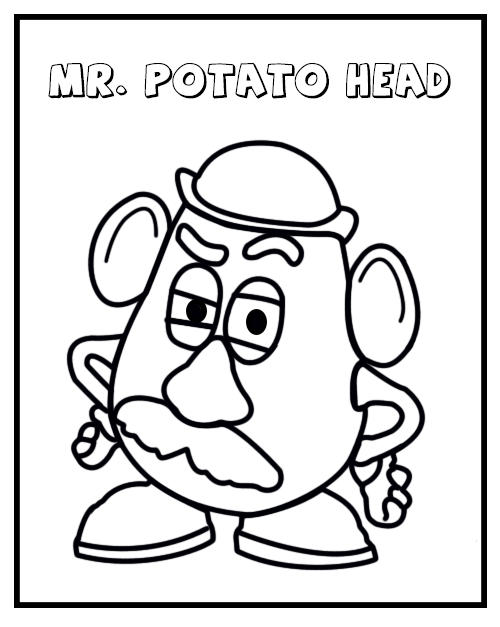 graphic relating to Mr Potato Head Printable titled Mr Potato Thoughts Coloring Sheet Printable - Coloring Designs