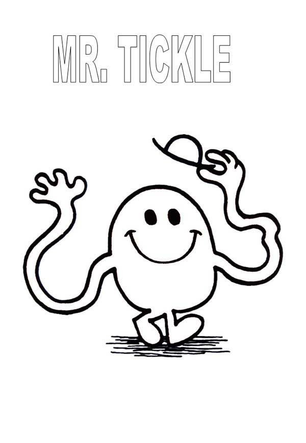 Mr Tickle Rise His Hat In Mr Men And Little Miss Coloring Pages