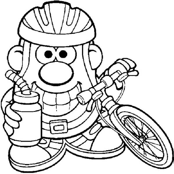 Mr. Potato Head Bike To Work Coloring Pages