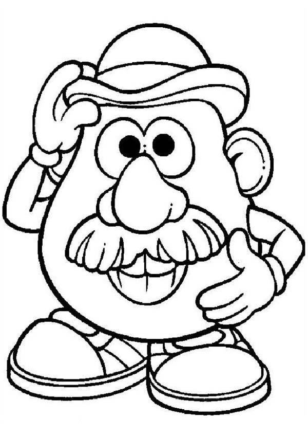 Mr. Potato Head Coloring Pages For Kids